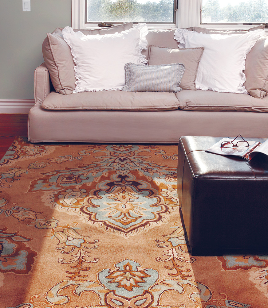 Rockin' the Area Rug  Looking for the perfect solution for adding that just-right touch of color and character to your room? With a few simple considerations, area rugs can help you create your own show-stopping space.