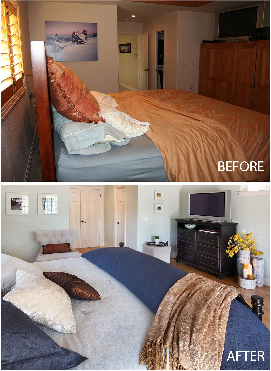 Newlywed Bedroom Before And After Newlywed Bedroom Suite By Bedroom Expressions