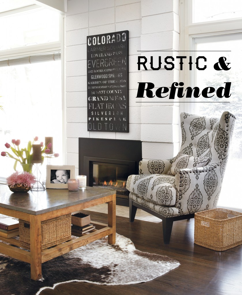 At Home Home Decor: Home Decor: Rustic And Refined Home