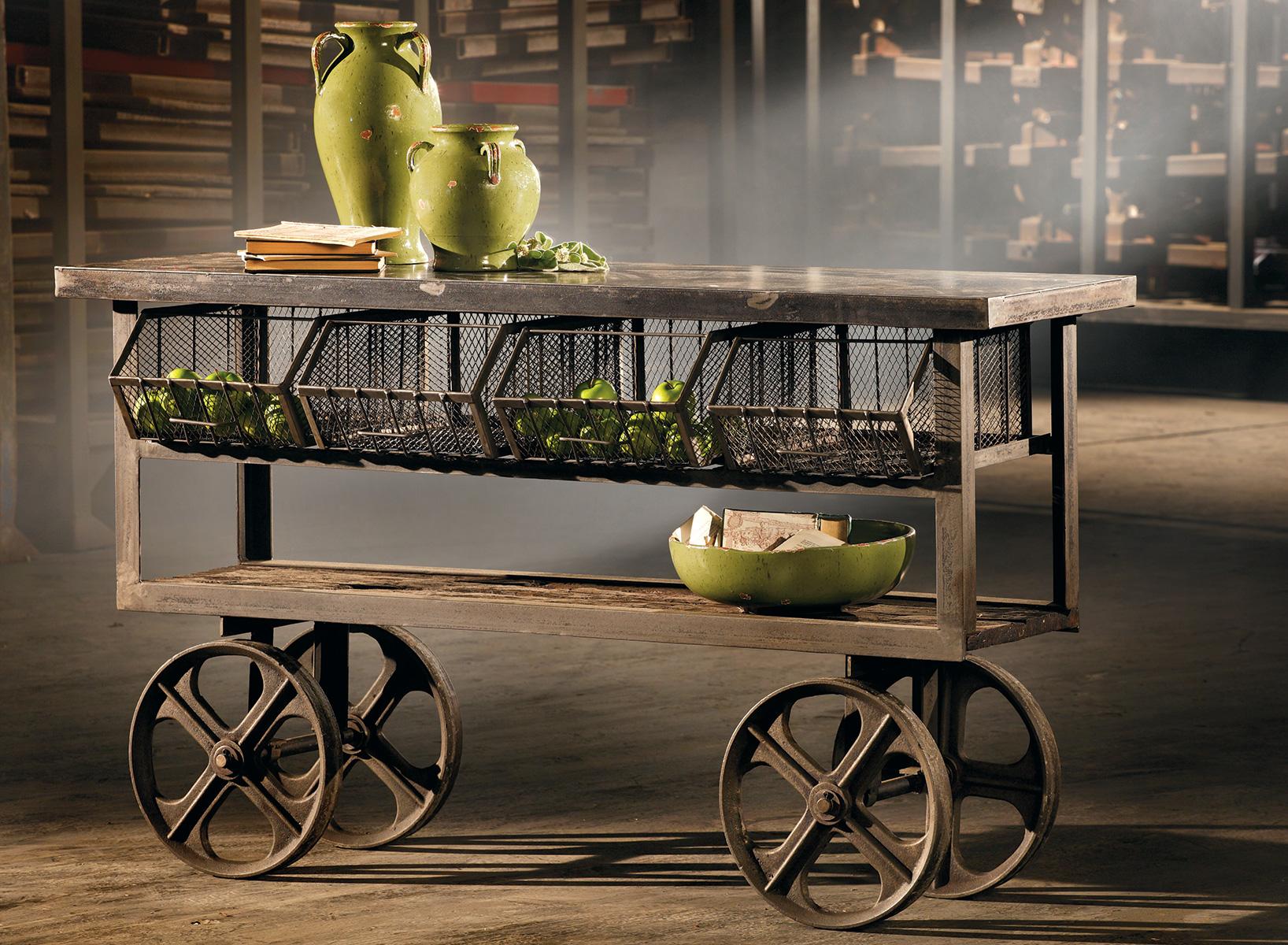 Oak Rolling Cart ~ How to decorate with accent tables home is here