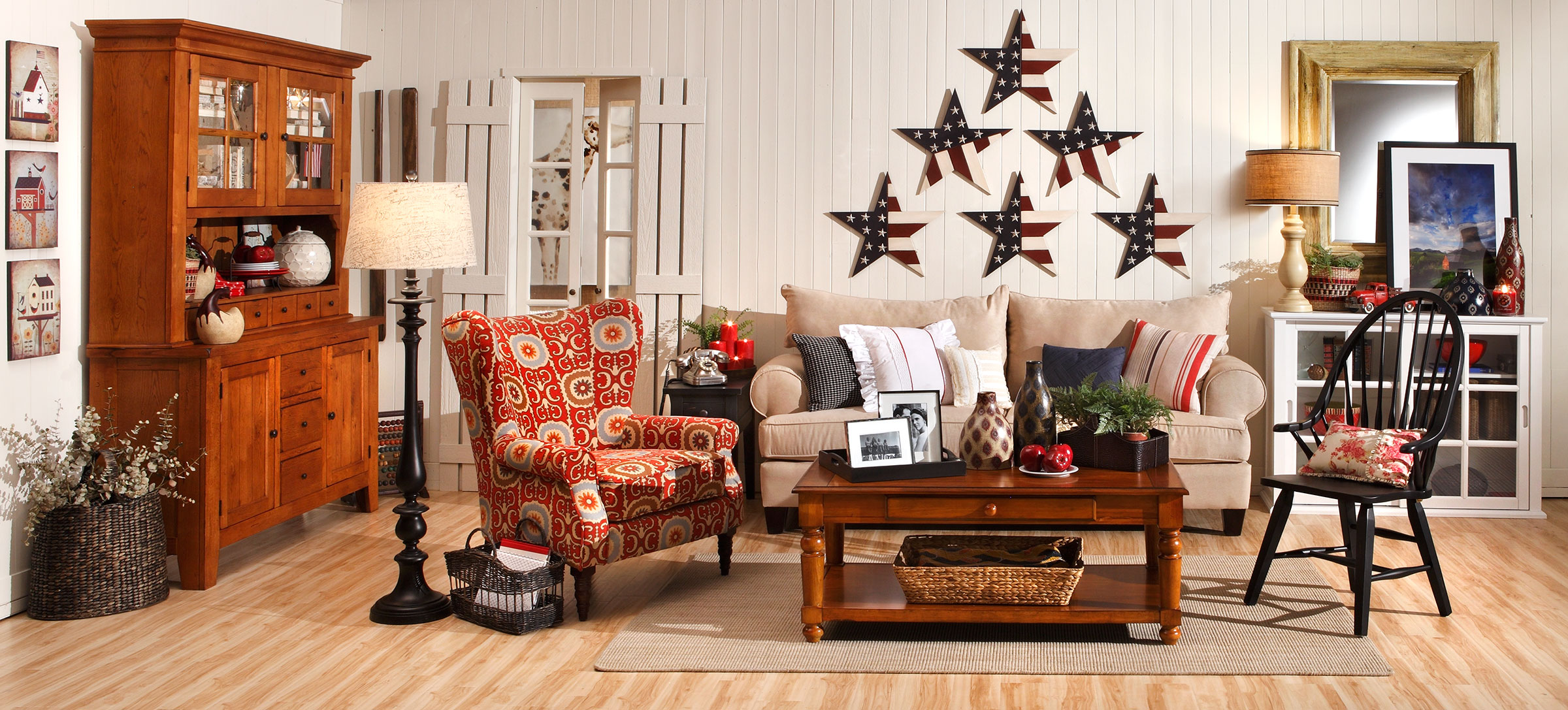 Americana home decor home is here for Home decorations pictures