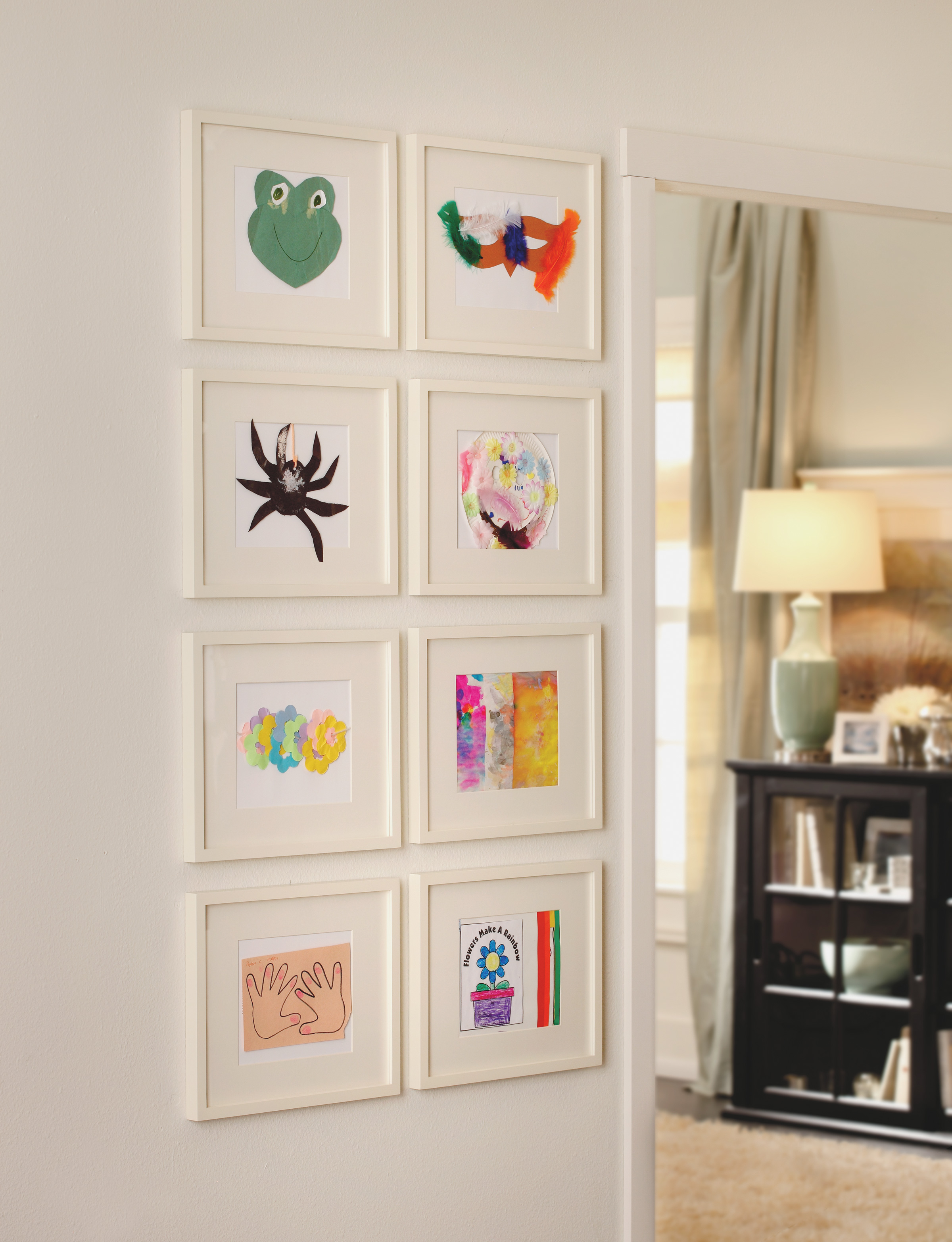 Home Decor: Kid Art in the Home - Home is Here